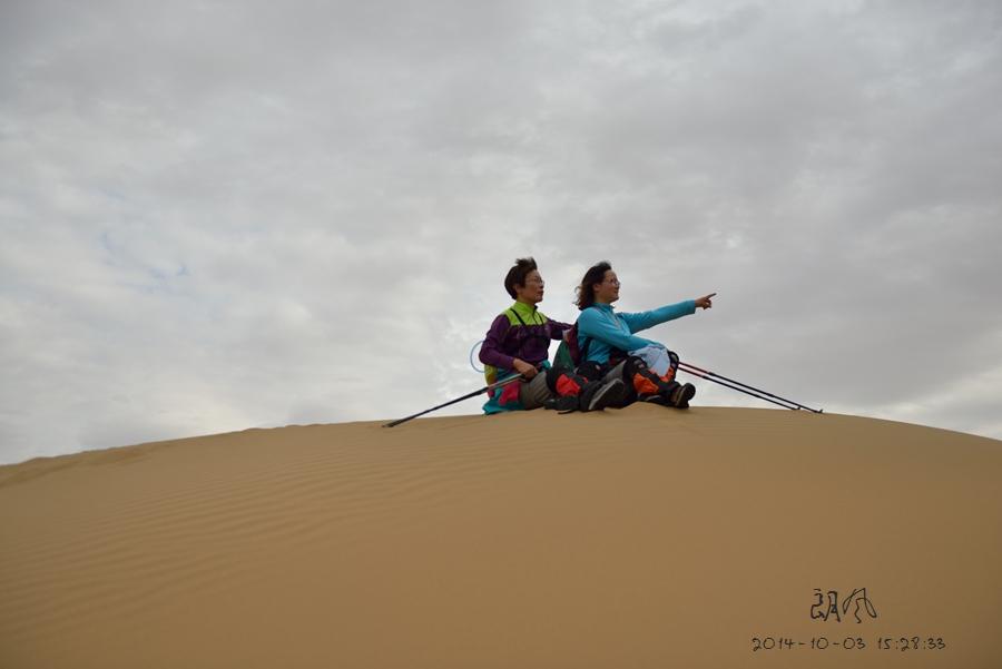 库布齐沙漠欣赏额济纳旗胡杨林部分人像