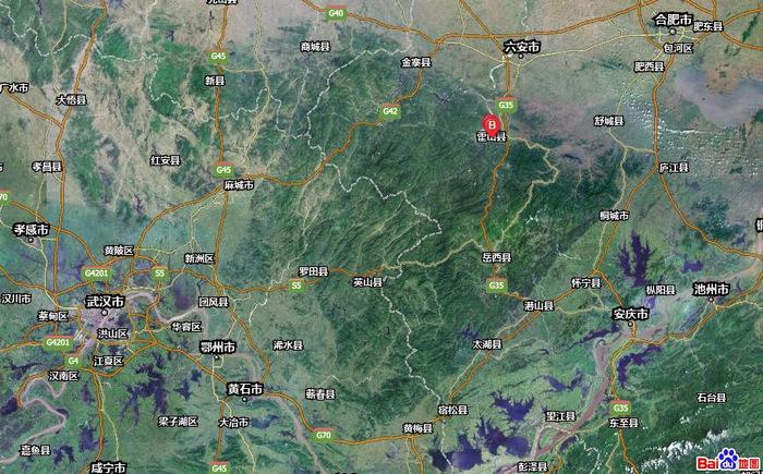 大别山位于中国安徽省